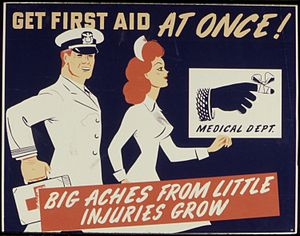 Get First Aid At Once^ Big Aches From Little I...