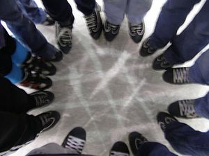 English: Me and a bunch of my friends went ice...