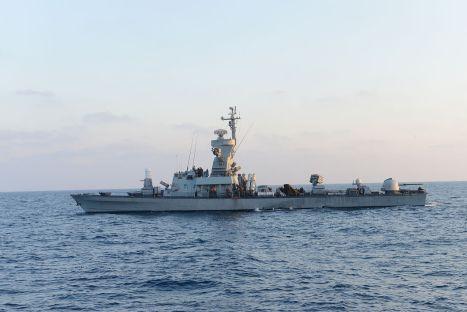 Israeli naval missile cruiser