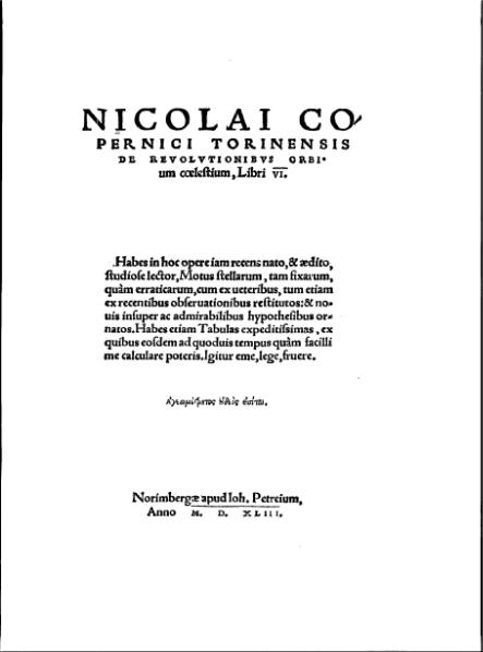 File:Nicolai Copernici torinensis De revolutionibus orbium coelestium.djvu