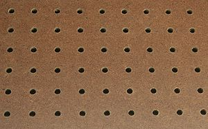 Section of a piece of pegboard, a.k.a. perfora...