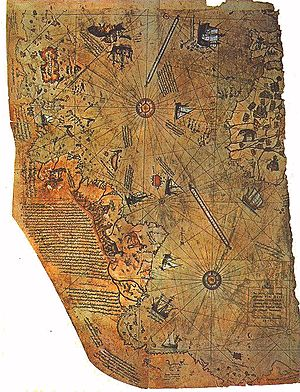 The Piri Reis map.
