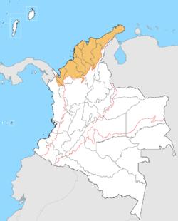 Ubicación de Región Caribe