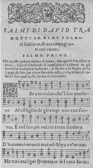 "English: Psalm 1 from ""Sessanta Salmi di ..."