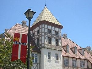 Danish architecture in Solvang, California, wi...