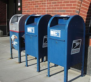 English: United States Post Office mail collec...