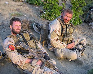 STG2 Axelson (right) with Lt. Michael Murphy.