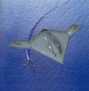 X-47B Over CV