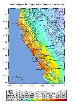 Tremblement De Terre Nice Aujourd Hui : tremblement, terre, aujourd, Séisme, Francisco, Wikipédia