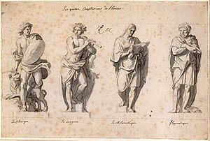 Preparatory drawing for the sculptors of the G...