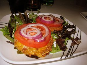 English: Chipotle veggie burgers. These were s...