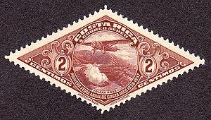 English: Postage stamp, Coasta Rica, 1937, 2c,...