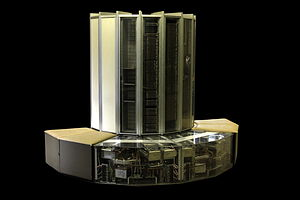 English: CRAY-1 on display in the hallways of ...