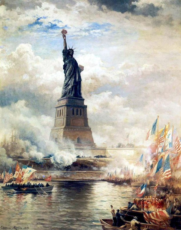 """Unveiling The Statue of Liberty"" by Edward Moran"