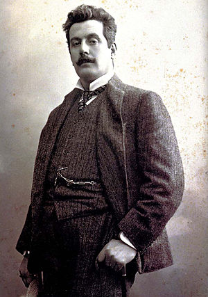 English: Portrait of Giacomo Puccini