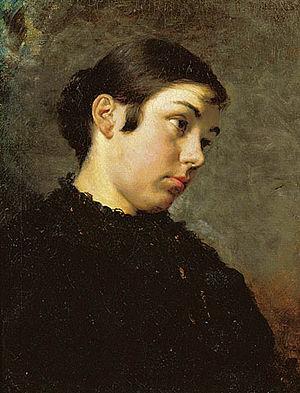 Πορτραίτο μιας όμορφης νέας, 1881, Λάδι σε Μου...