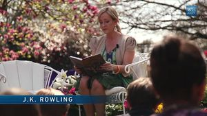 Author J.K. Rowling reads Harry Potter and the...