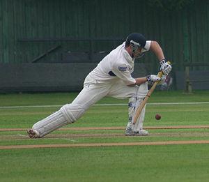 English: Jonathan Trott batting for Warwickshi...