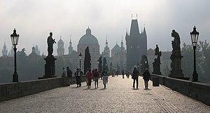 Charles Bridge in Prague.