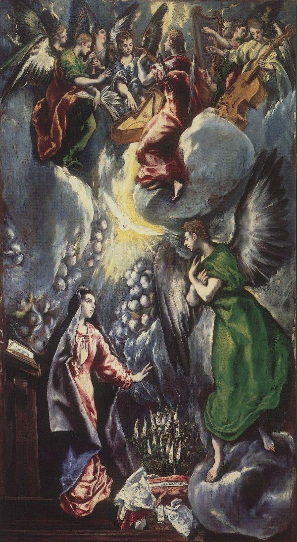 La Anunciaci El Greco Museo Del Prado 1600