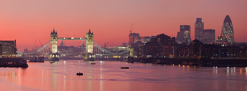 File:London Thames Sunset panorama - Feb 2008.jpg