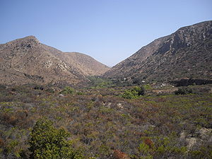 Mission Trails Regional Park, view of gorge fr...