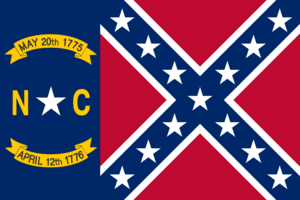 North Carolina Rebel Flag