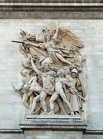 English: Sculpture in the Arc du Triomphe, Par...