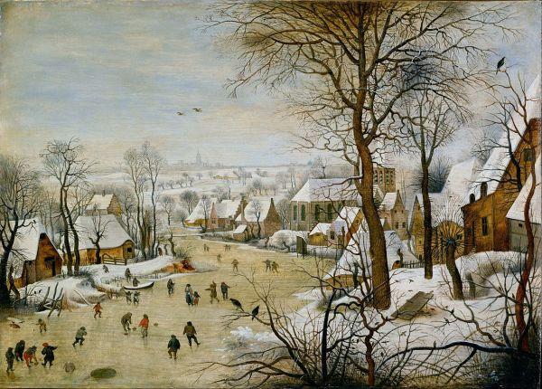 Pieter Bruegel Winter Landscape with Bird Trap