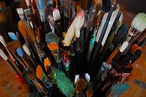 English: paintbrush