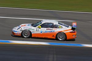 English: Porsche racing car at Hockenheim Ring...