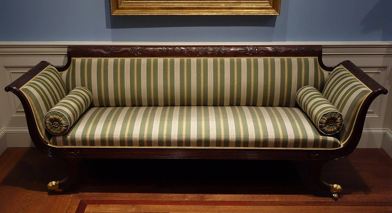 FileSofa attributed to Duncan Phyfe shop New York 1810