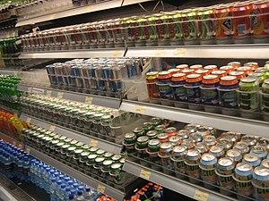 Softdrinks in supermarket