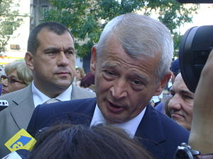 Sorin Oprescu, the Mayor of Bucharest, after a...