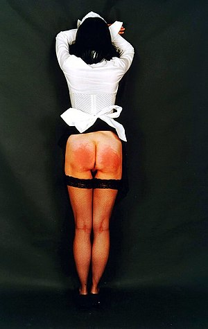 English: Lazy room maid after spanking - publi...