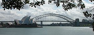 The Sydney Opera House on Bennelong Point.