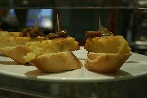 Español: Tapas de tortilla española