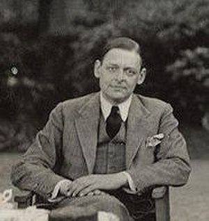 English: Thomas Stearns ('T.S.') Eliot with hi...