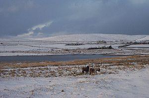 English: White Christmas at Baltasound Well, B...