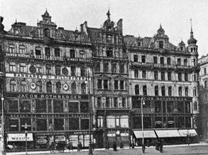 Deutsch: Wien, Stephansplatz, Warenhäuser Roth...