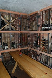 Wine storage in basement