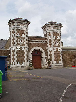 English: Wormwood Scrubs Prison Built by priso...