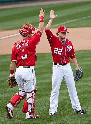 Drew Storen (right) and Wilson Ramos