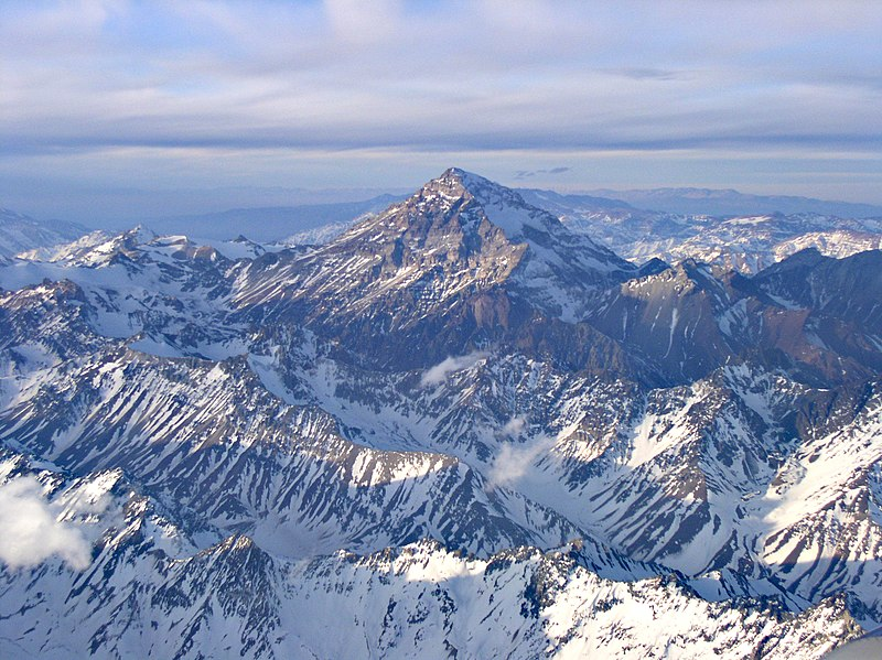 andes - highest mountains outside asia