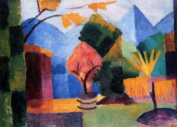 August Macke Garden On Lake of Thun