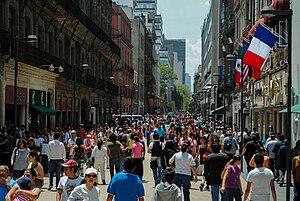 Español: Calle Madero, Centro Histórico de la ...