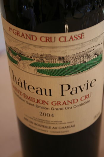 French wine from the Saint Emilion region on t...