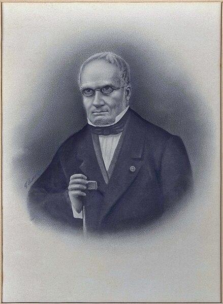 Retrato del prehistoriador francés Edouard Lartet