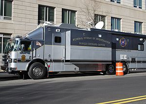 English: FBI Mobile Command Center in Washingt...