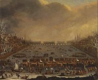 Frost Fair on the Thames, with Old London Bridge in the distance - Google Art Project